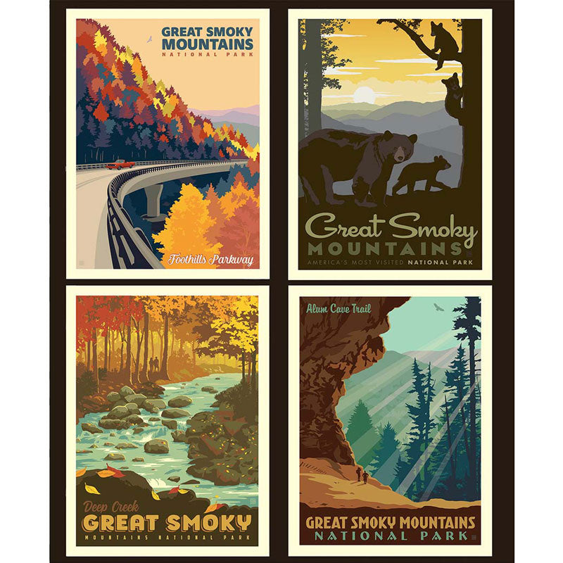 National Parks - Great Smoky Mountains Pillow Panel