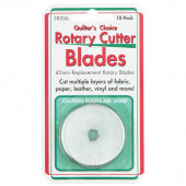 Quilter's Choice 45mm Rotary Cutter Replacement Blades - 10 Pack