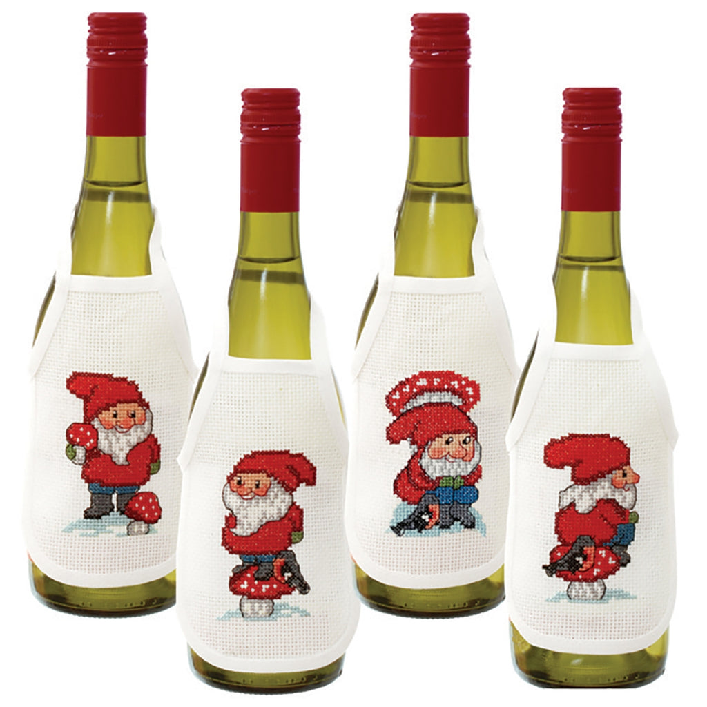 Dancing Elves Bottle Aprons
