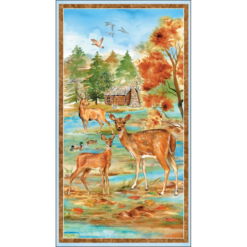 Deer Meadow Fabric Panel