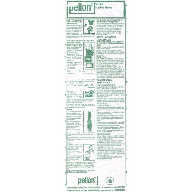 "Pellon Fusible Fleece 45"" Interfacing Yardage"