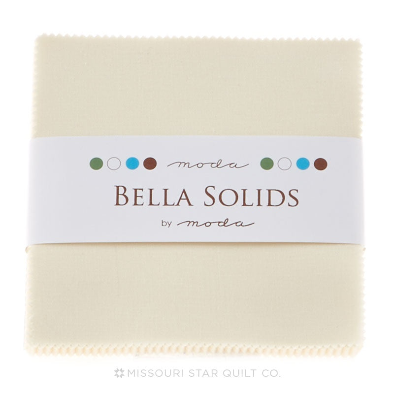 Bella Solids Ivory Charm Pack