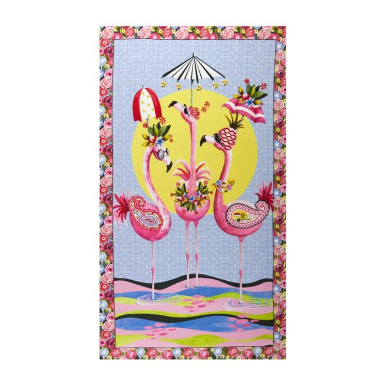 Flamingo Fantastico Fabric Panel