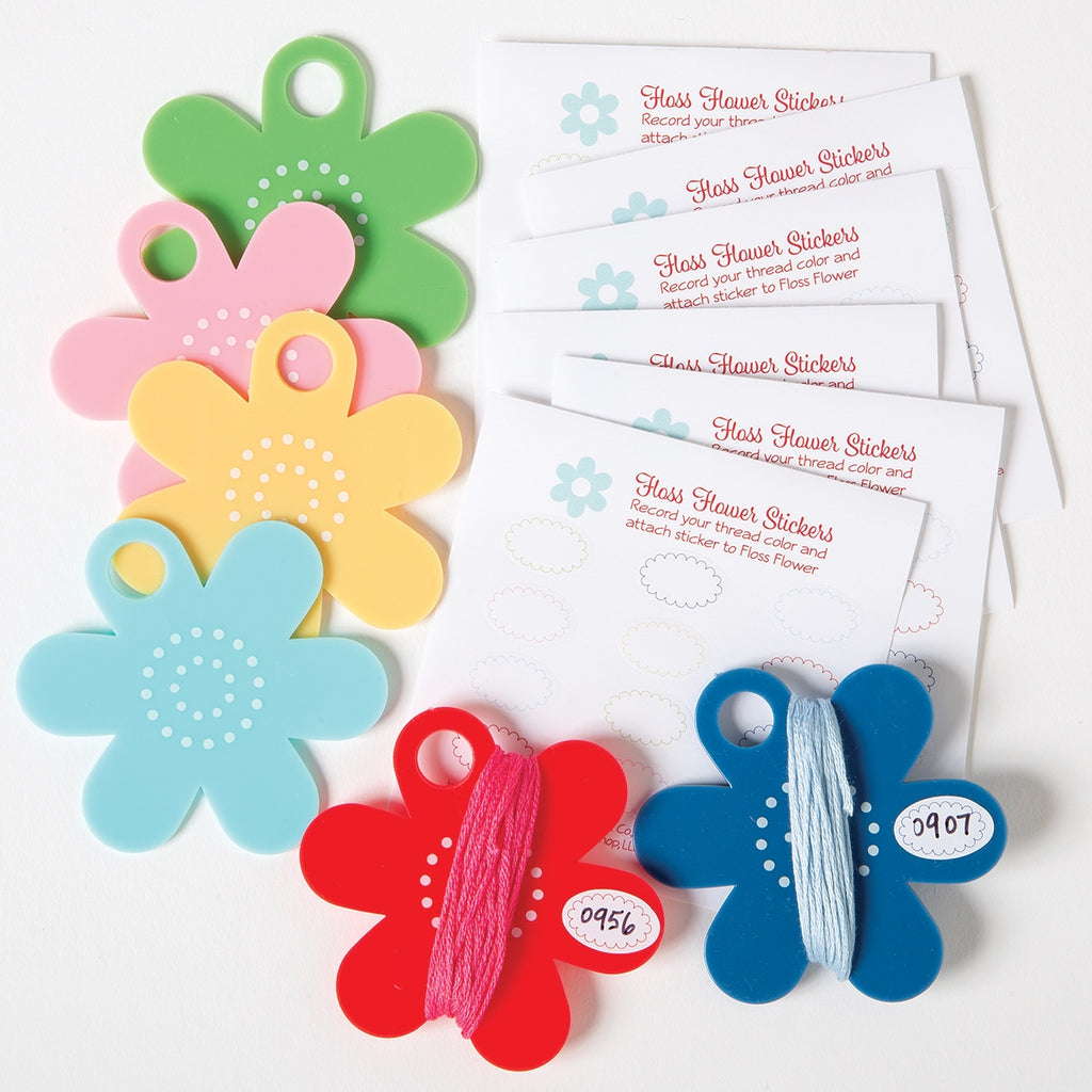 Floss Flower Bobbins and Label Set