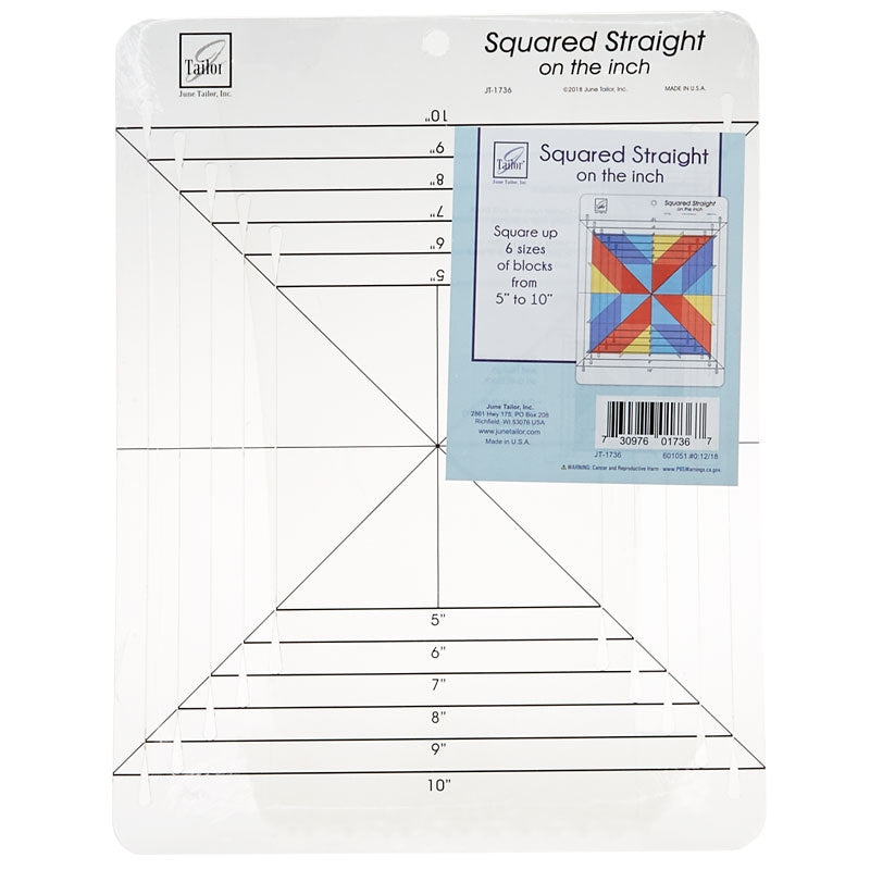 June Tailor Inch Squared Straight Ruler