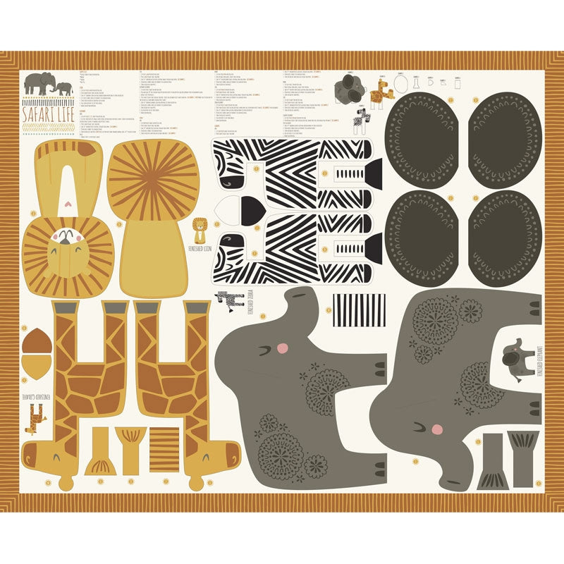 Safari Life Animal Fabric Panel