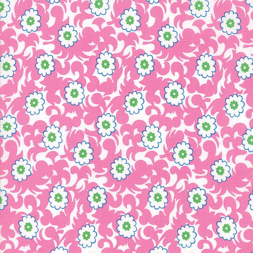 Flower Sacks Pink Fancy Flowers Fabric