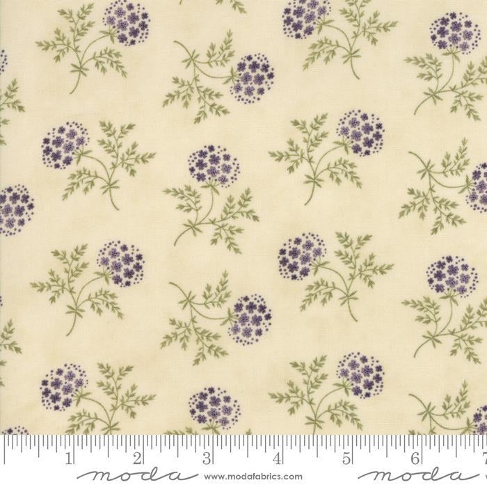 Clover Meadow Ivory Floral Fabric
