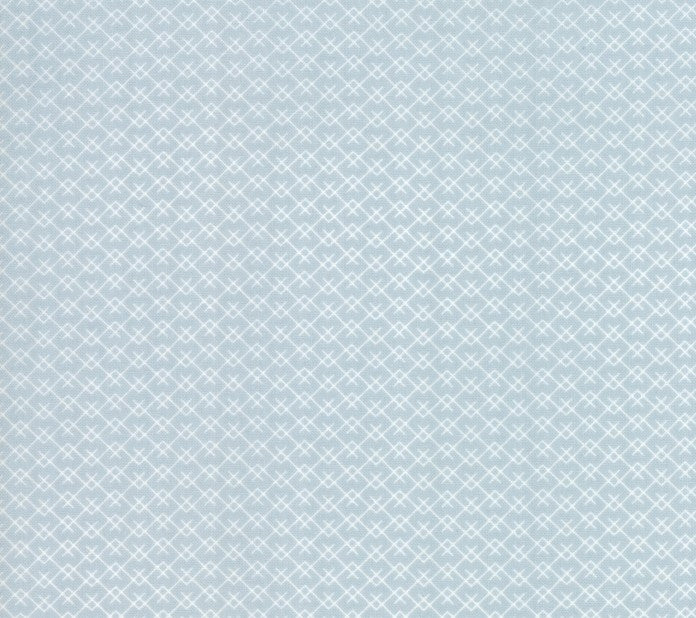 Harvest Road Mountainside Fabric - Smokey Blue