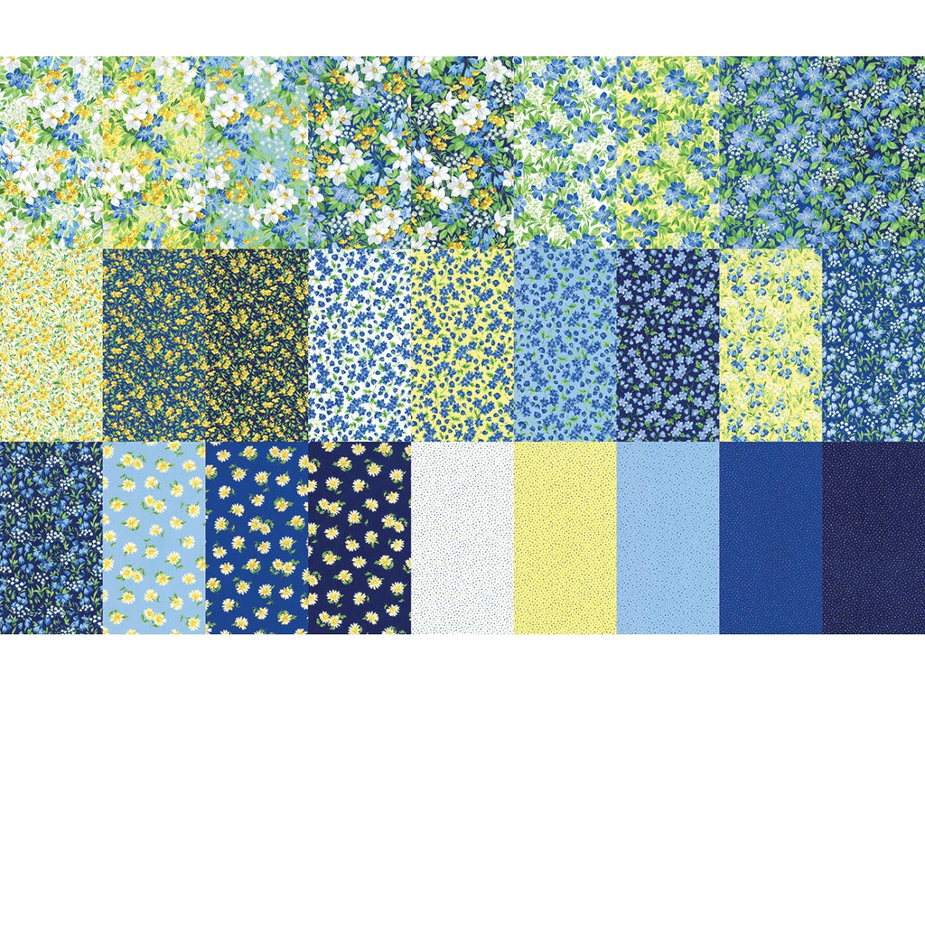 Summer Breeze V Fat Quarter Pack with Free Guide