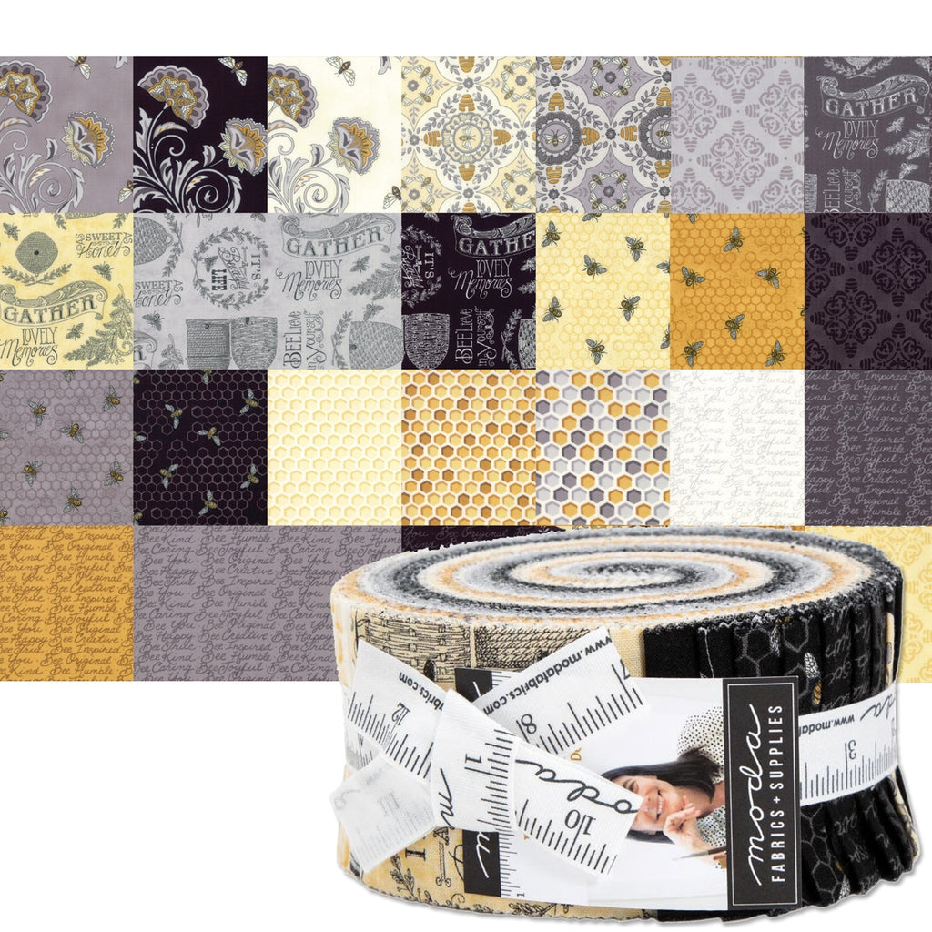 "Bee Joyful 2-1/2"" Fabric Strips"