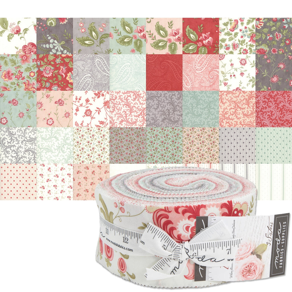 "Porcelain 2-1/2"" Fabric Strips"
