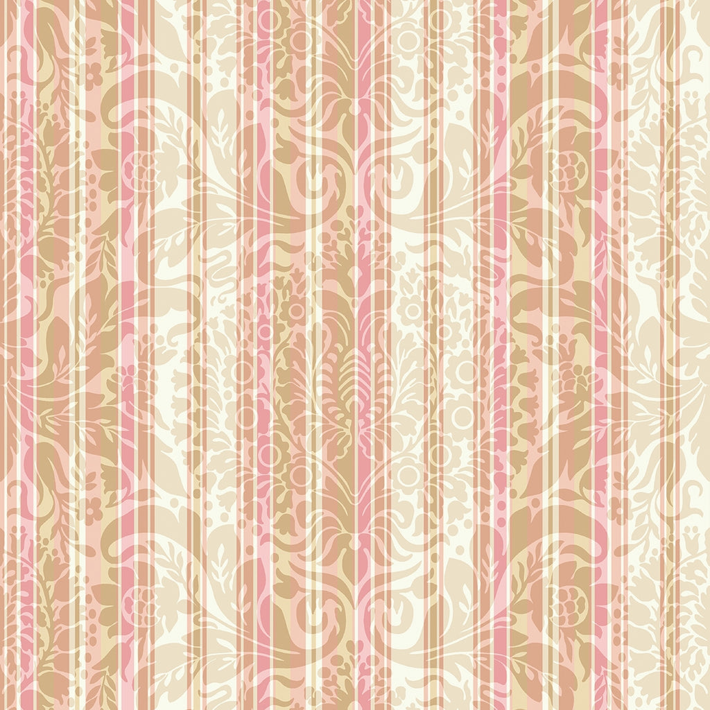 Burgundy & Blush Stripe Fabric
