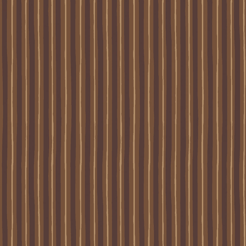Kimberbell Brown Little Stripe Fabric