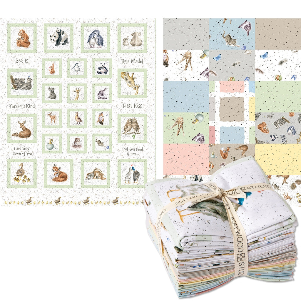 Love Is Fat Quarter Pack Plus Panel
