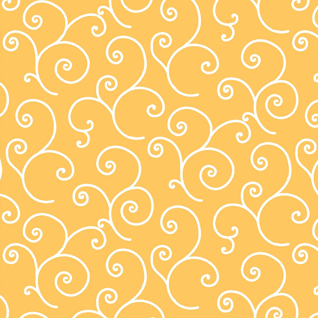 Kimberbell Yellow Scroll Fabric