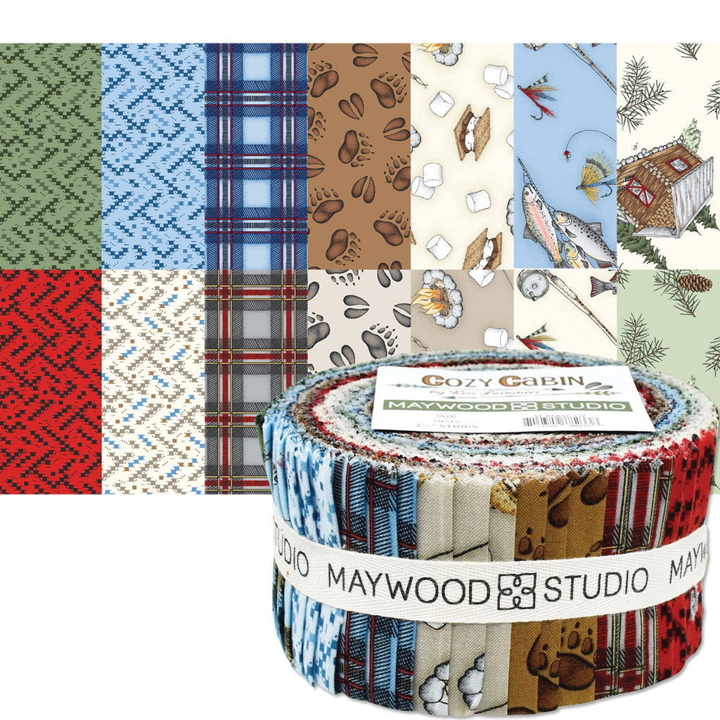 Cozy Cabin 2 1/2 Inch Fabric Strips