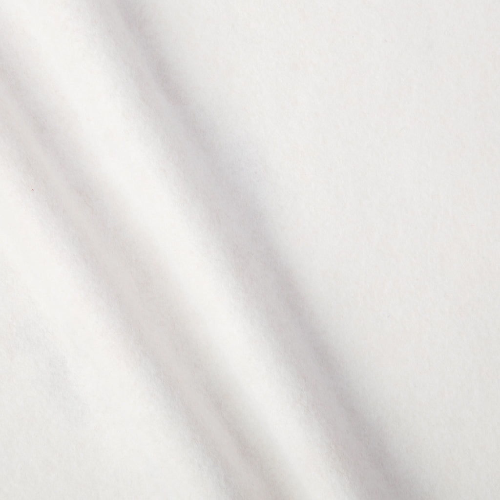 White WoolFelt Fabric