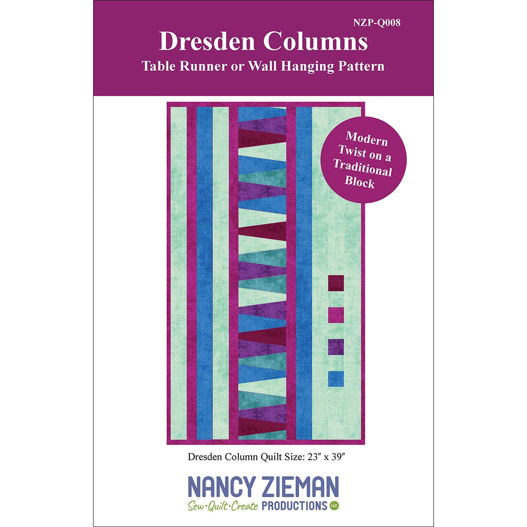 Dresden Columns Table Runner and Wall Hanging Pattern