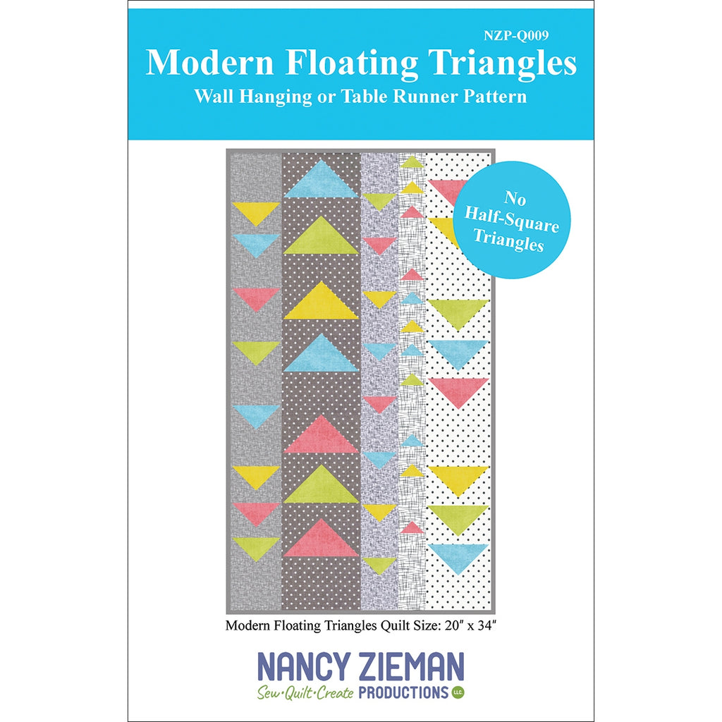 Modern Floating Triangles Wall Hanging and Table Runner Pattern