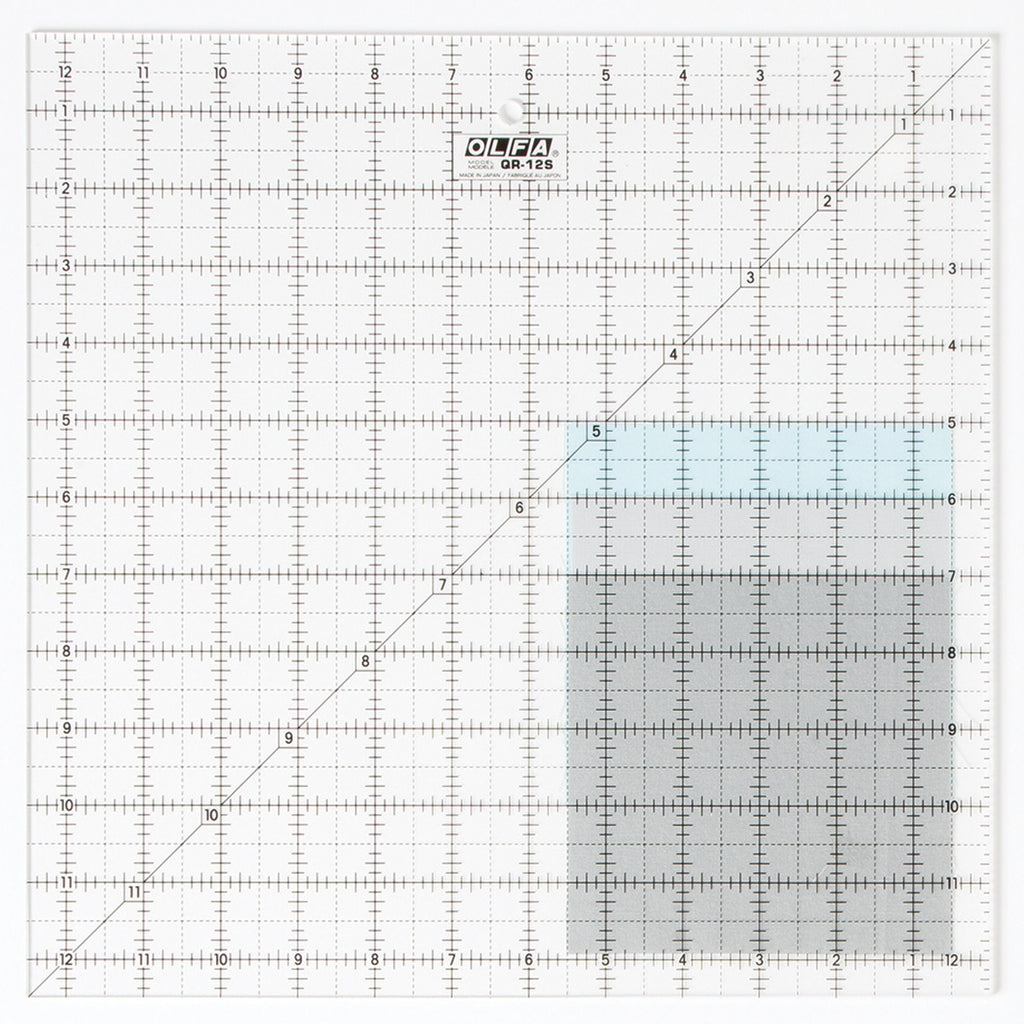 "Olfa 12-1/2"" Square Frosted Ruler"