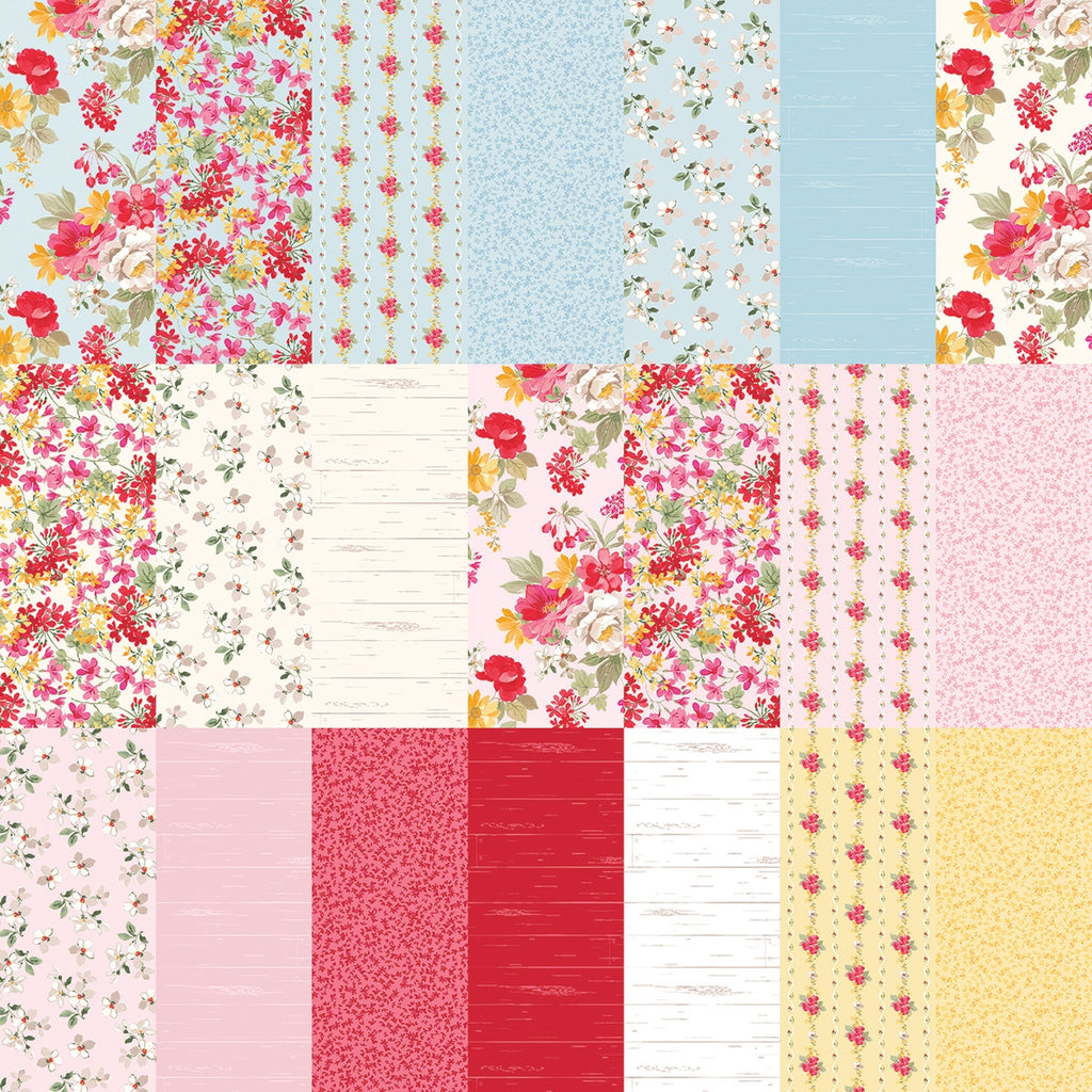 Farmhouse Floral Fat Quarter Pack with Free Guide