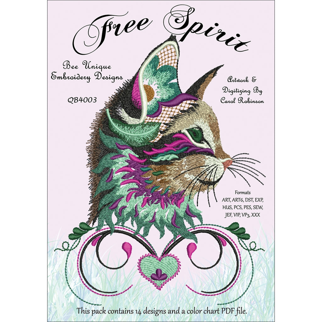 Free Spirit Embroidery Designs