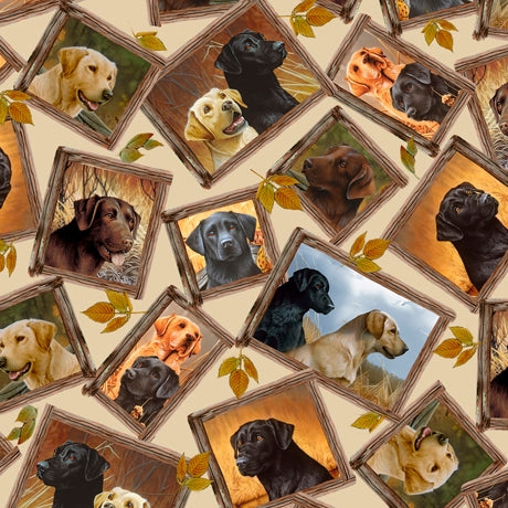 Loyal Loveable Labs Picture Fabric