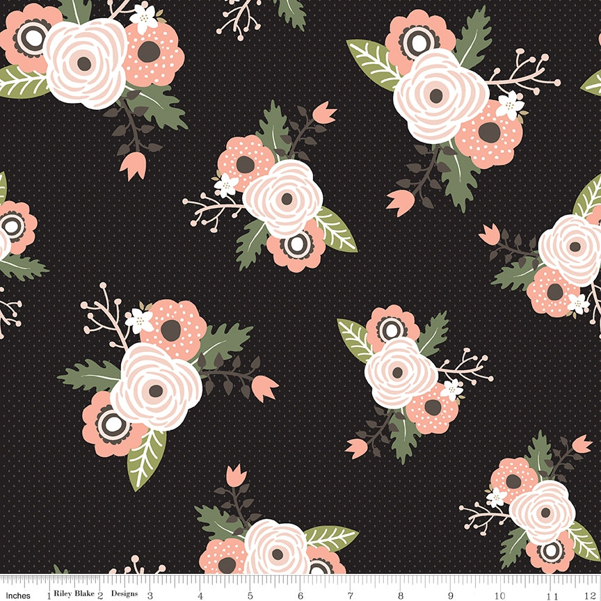 Modern Farmhouse Main Black Fabric