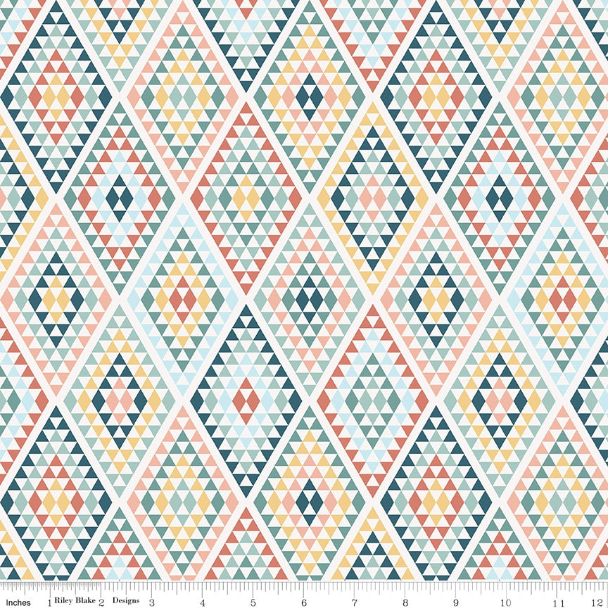 Riley Blake, Dream Weaver Diamonds Cream Fabric