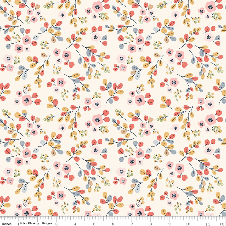 Charmed Floral Cream Fabric