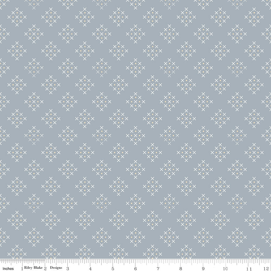 Charmed Criss Cross Grey Fabric