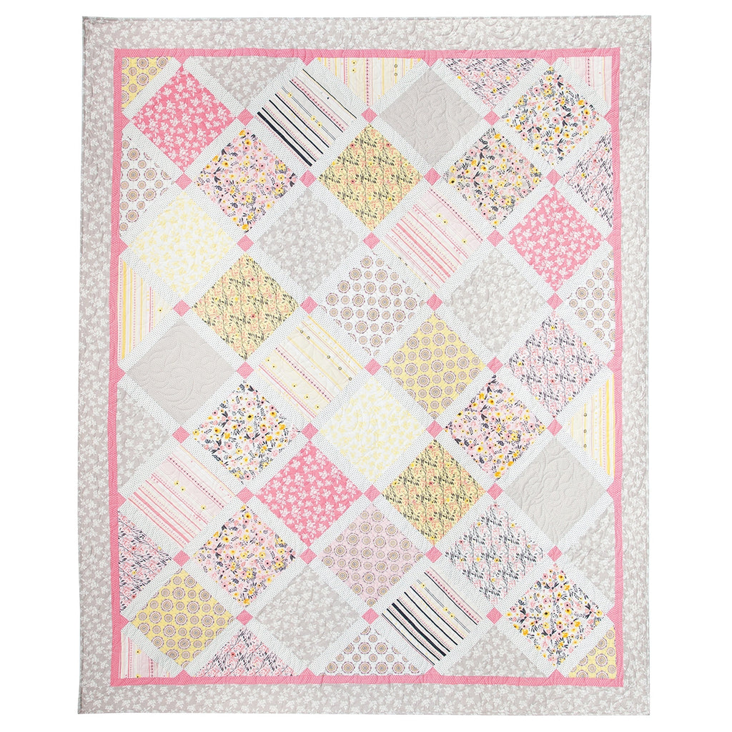 Petal Lane Lattice Quilt Top Kit
