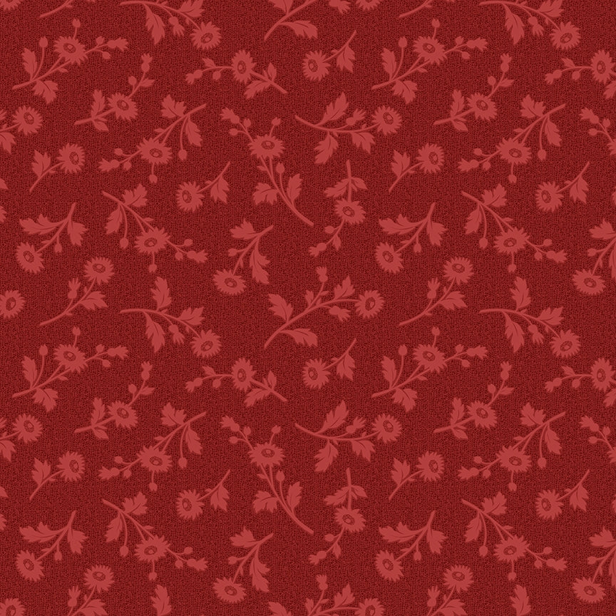 Red Elegance Textured Brick Fabric