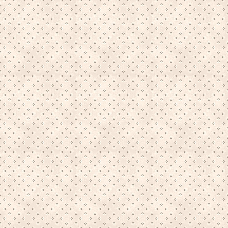 Red Elegance Diamonds Cream Fabric