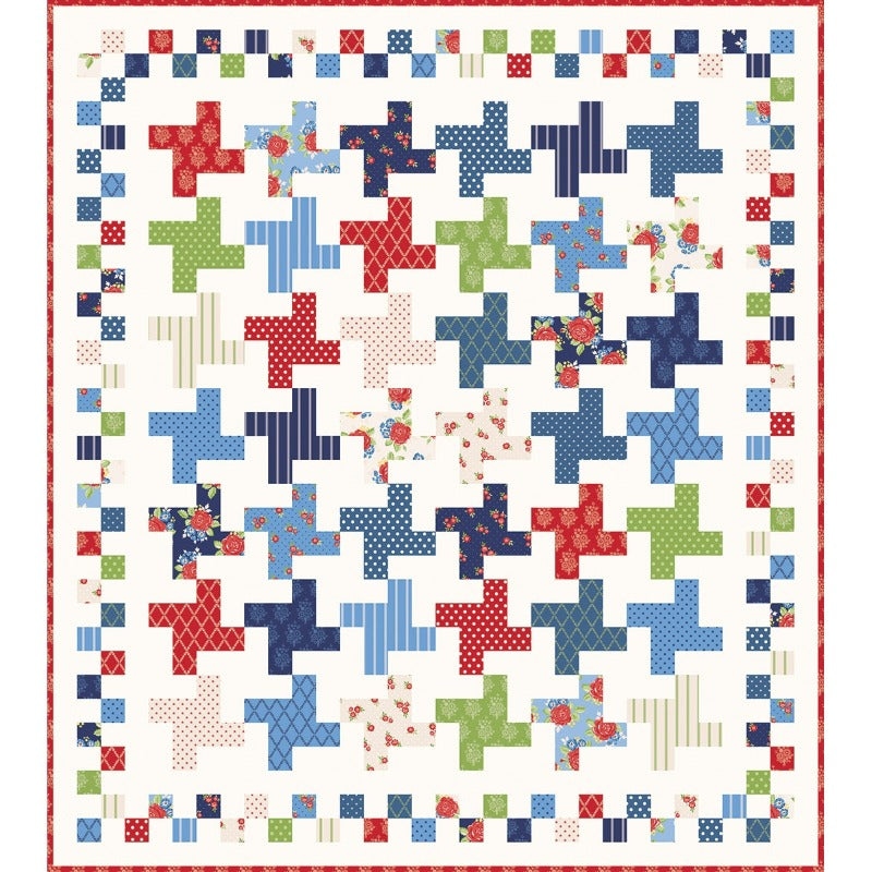 Harry and Alice Hopscotch Quilt Top Kit