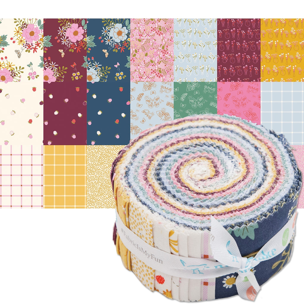 Wild Bouquet 2 1/2 Inch Fabric Strips