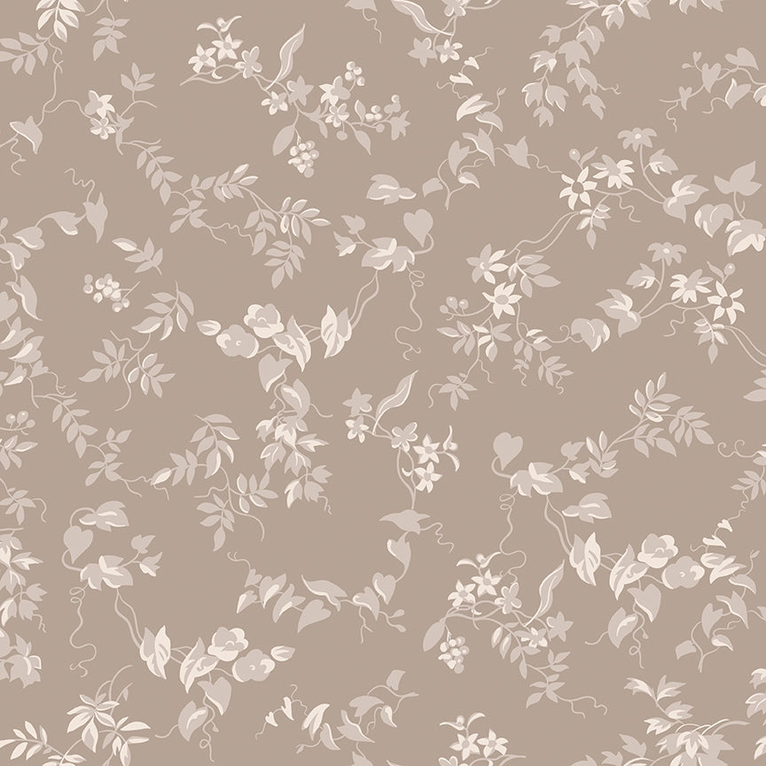 Red Elegance Tonal Taupe Fabric