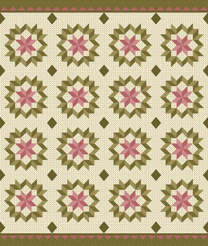 Riley Blake, Buttermilk Basic Spring Panel Fabric
