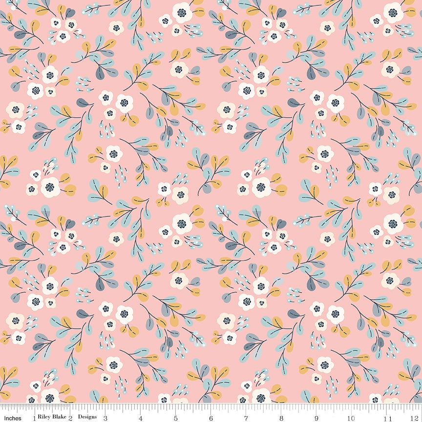 Charmed Floral Pink Fabric