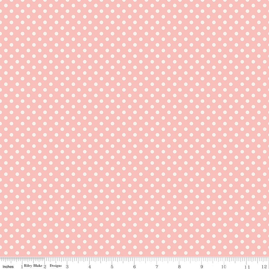 Charmed Dot Pink Fabric