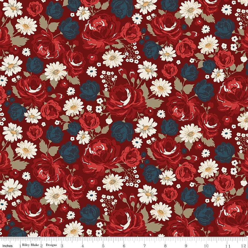 American Legacy Main Red Fabric