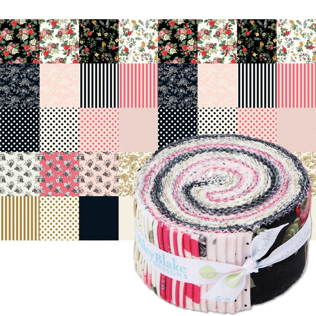 "In Bloom 2-1/2"" Fabric Strips"