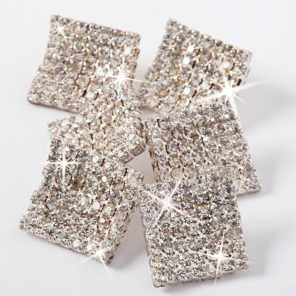 SQUARE RHINESTONE BUTTON SET