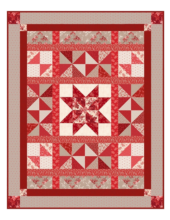 Red Elegance Quilt Top Kit