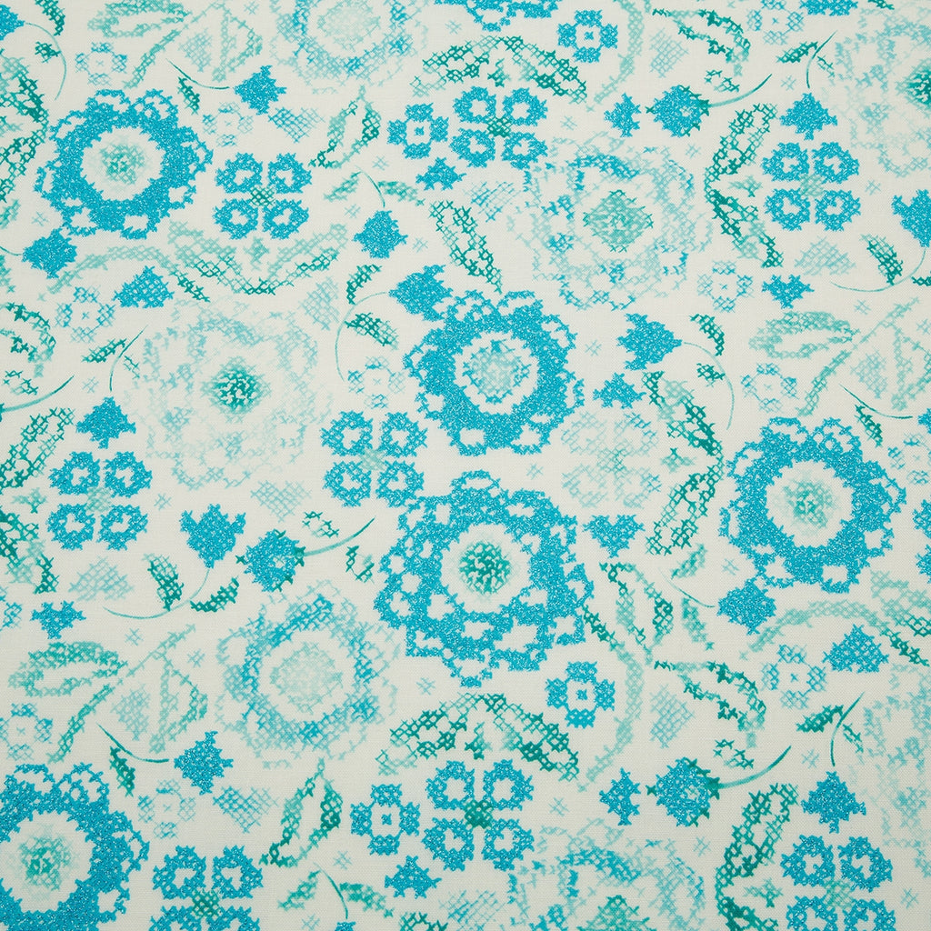 Blue Belle Embroidery Fabric