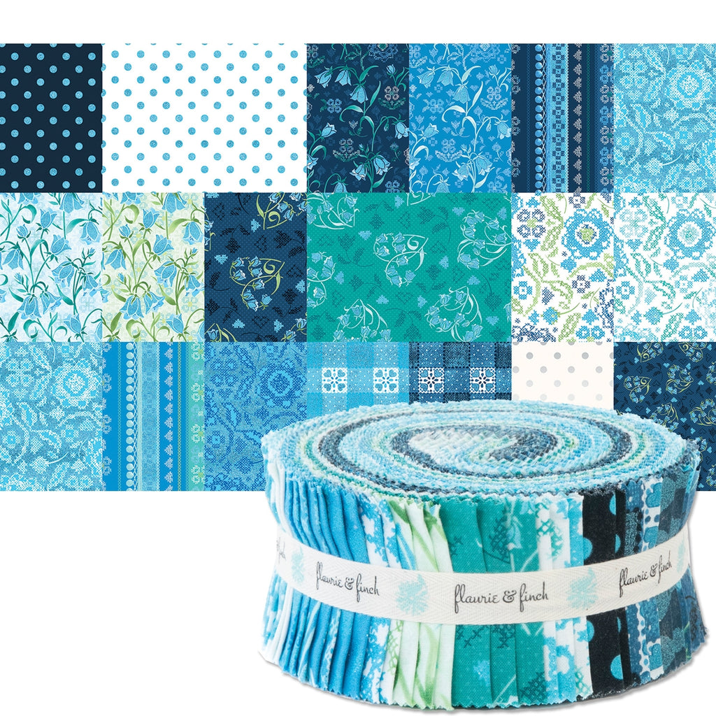 "Blue Belle 2-1/2"" Fabric Strips"