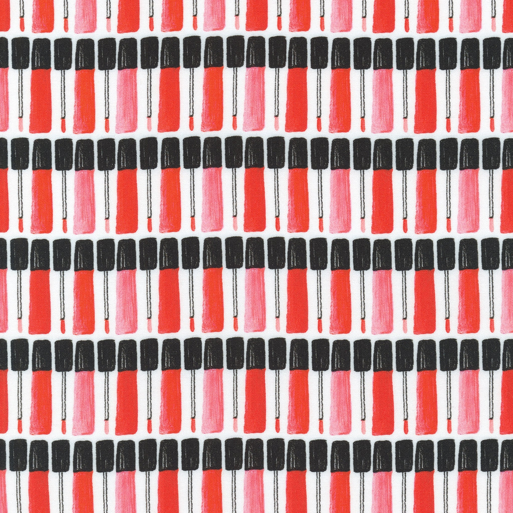 Love and Red Lipstick Fabric