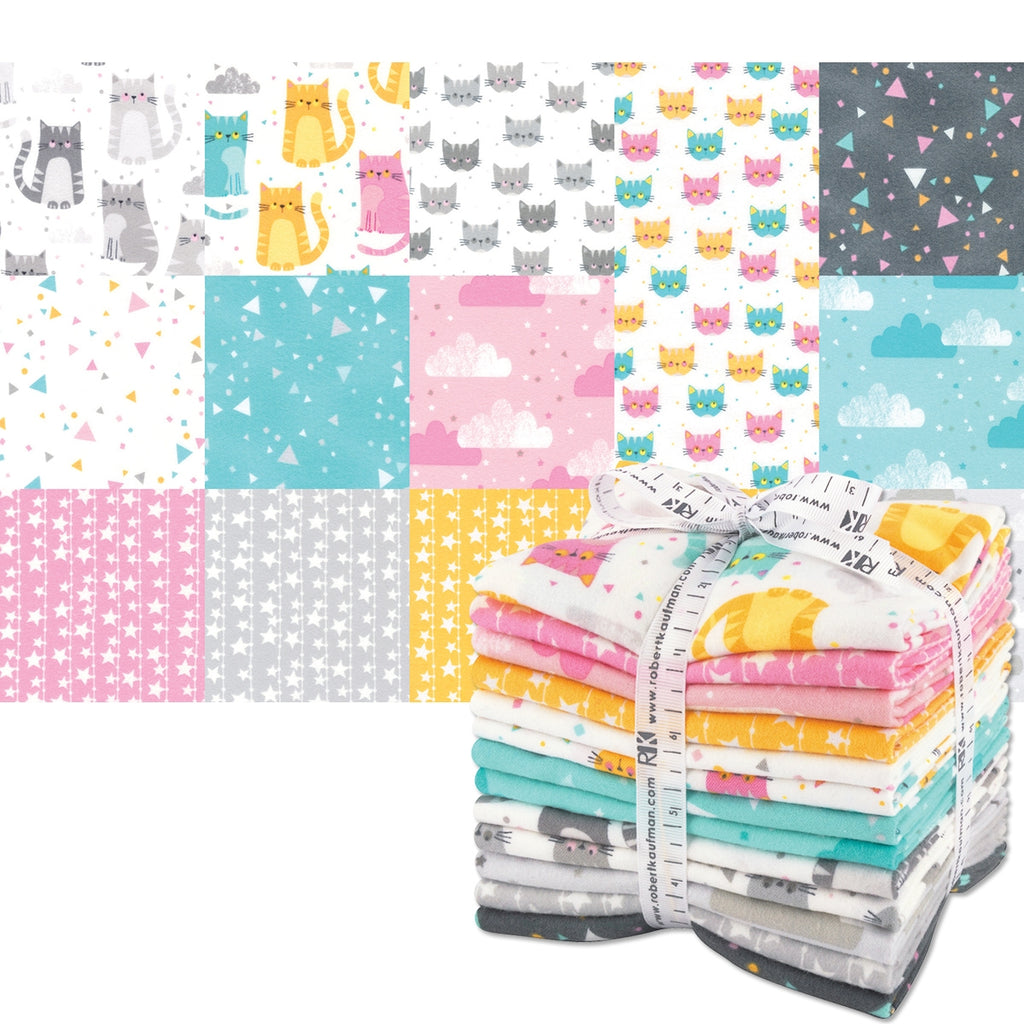 Cuddly Kittens Flannel Fat Quarter Pack