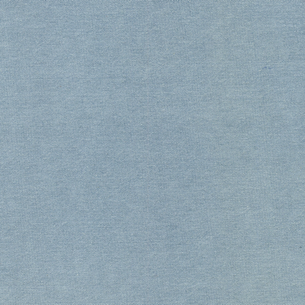 Indigo Bleach Washed Denim Fabric